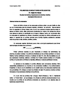POLIMEROS CONDUCTORES INTELIGENTES Dr. Alejandro Baeza. (-M-M-M-) n