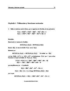 Polinomios y Fracciones racionales 11