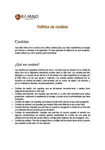 Política de cookies. Cookies. Qué son cookies?