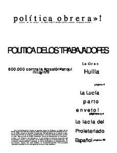 POLITICA DE LOS TRABAJADORES