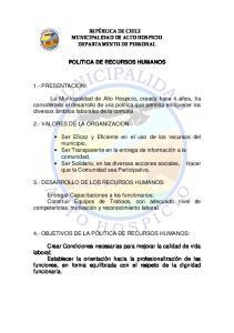 POLITICA DE RECURSOS HUMANOS