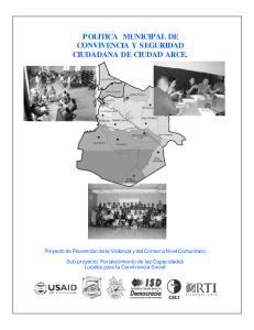 POLITICA MUNICIPAL DE CONVIVENCIA Y SEGURIDAD CIUDADANA DE CIUDAD ARCE