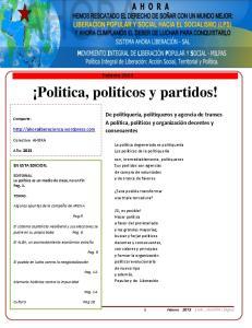 Politica, politicos y partidos!