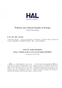 Political and cultural identity in Europe
