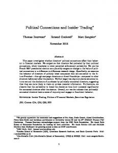 Political Connections and Insider Trading
