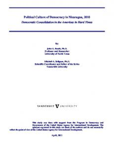 Political Culture of Democracy in Nicaragua, 2010