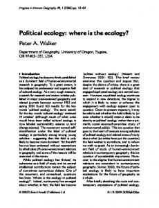 Political ecology: where is the ecology?