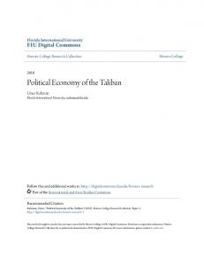 Political Economy of the Taliban