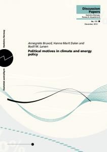 Political motives in climate and energy policy