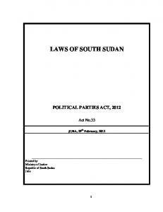 POLITICAL PARTIES ACT,