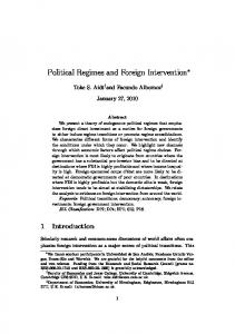 Political Regimes and Foreign Intervention