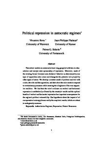 Political repression in autocratic regimes
