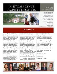 Political science alumni newsletter