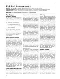 Political Science (POL)