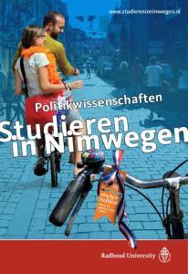 Politikwissenschaften tudieren in Nimwegen