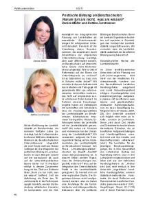 Politische Bildung an Berufsschulen: Warum tun sie nicht, was sie wissen? Denise Müller und Bettina Zurstrassen