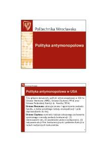 Polityka antymonopolowa