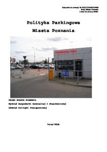 Polityka Parkingowa Miasta Poznania