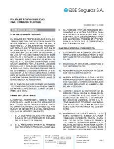 POLIZA DE RESPONSABILIDAD CIVIL EXTRACONTRACTUAL