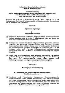 Polizeiliche Umweltschutzverordnung vom 28. November 2001