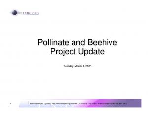 Pollinate and Beehive Project Update