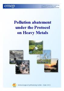 Pollution abatement under the Protocol on Heavy Metals