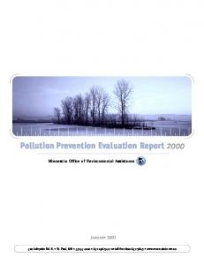 Pollution Prevention Evaluation Report 2000