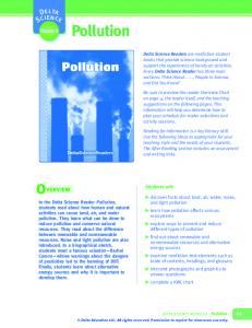 Pollution. Reader. Students will