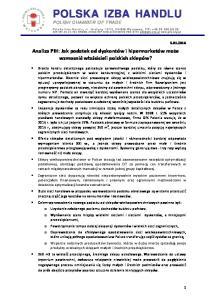 POLSKA IZBA HANDLU POLISH CHAMBER OF TRADE