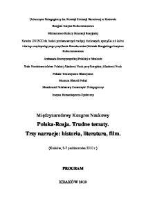 Polska-Rosja. Trudne tematy. Trzy narracje: historia, literatura, film
