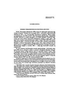 POLSKIE TOWARZYSTWO STATYSTYCZNE ( )