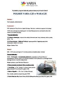 POLSKIE VARIA-CJE w WAKACJE