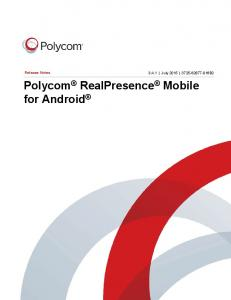 Polycom RealPresence Mobile for Android
