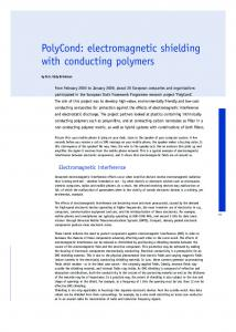 PolyCond: electromagnetic shielding with conducting polymers