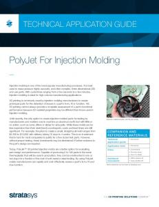 PolyJet For Injection Molding