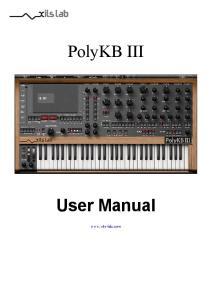 PolyKB III. User Manual