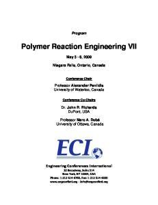 Polymer Reaction Engineering VII