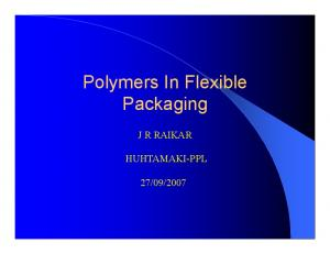 Polymers In Flexible Packaging