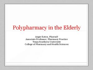Polypharmacy in the Elderly