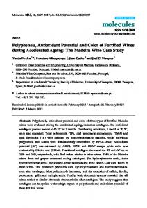 Polyphenols, Antioxidant Potential and Color of Fortified Wines during Accelerated Ageing: The Madeira Wine Case Study