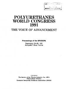 POLYURETHANES WORLD CONGRESS 1991