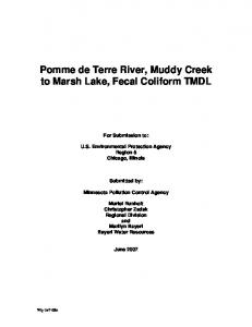 Pomme de Terre River, Muddy Creek to Marsh Lake, Fecal Coliform TMDL