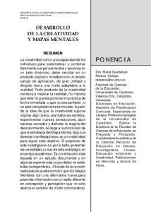 PONENCIA DESARROLLO DE LA CREATIVIDAD Y MAPAS MENTALES RESUMEN