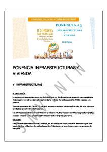 PONENCIA INFRAESTRUCTURAS Y VIVIENDA