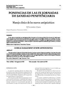 PONENCIAS DE LAS IX JORNADAS DE SANIDAD PENITENCIARIA