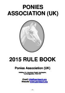 PONIES ASSOCIATION (UK)