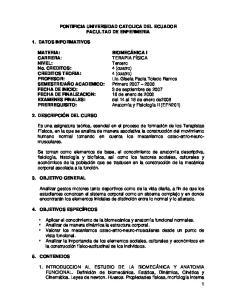PONTIFICIA UNIVERSIDAD CATOLICA DEL ECUADOR FACULTAD DE ENFERMERIA