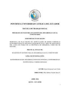 PONTIFICIA UNIVERSIDAD CATOLICA DEL ECUADOR
