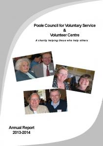 Poole Council for Voluntary Service & Volunteer Centre. A charity helping those who help others