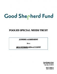 POOLED SPECIAL NEEDS TRUST